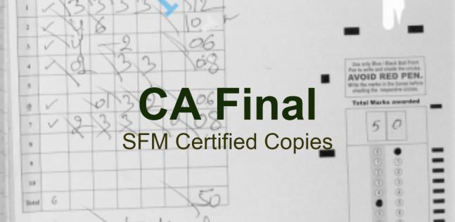 CA Final SFM Certified Copies