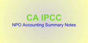 IPCC NPO Accounting Summary Notes