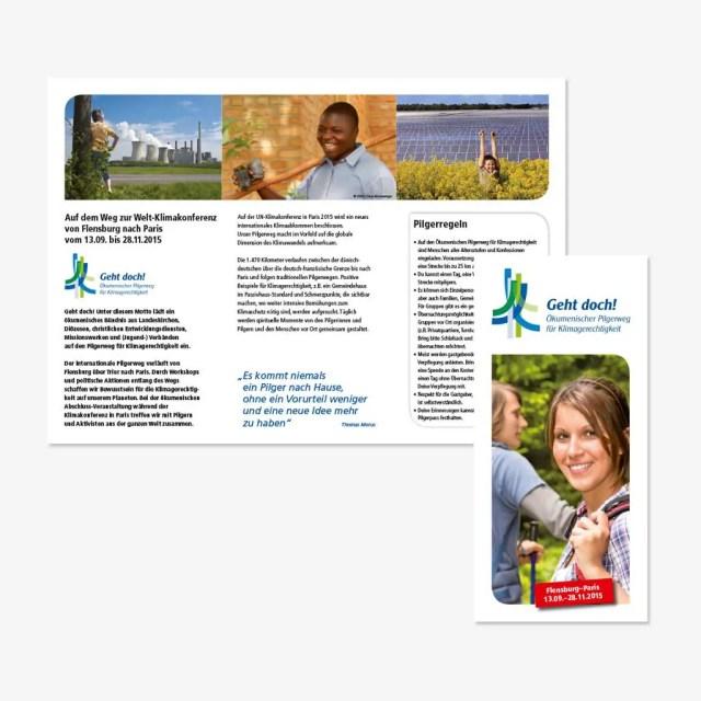 Ökumenischer Pilgerweg für Klimagerechtigkeit: individualisiertes Aktionsmaterial für 12 Streckenabschnitte