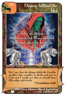Demon behind the Idol card from Redemption The Card Game