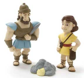David and Goliath action figures bible toys and games