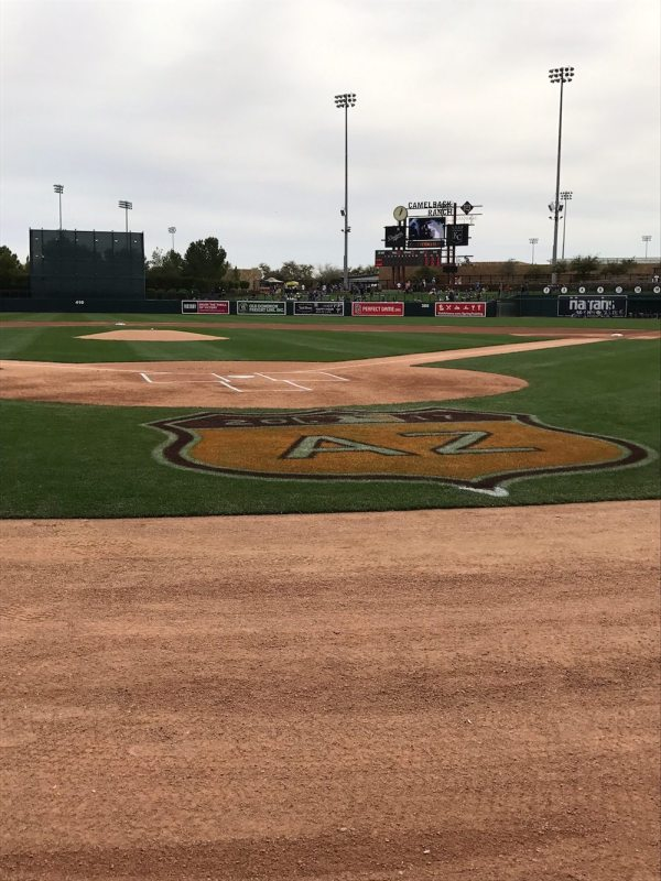 Home plate at Camelback Ranch