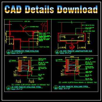 Door Jamb Details,Door Jamb Design ,CAD drawings downloadable in dwg files