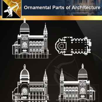 ★【Ornamental Parts of Architecture -Decoration Element CAD Blocks V.5】@Autocad Decoration Blocks,Drawings,CAD Details,Elevation