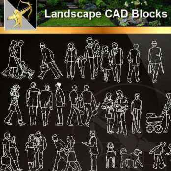 ★【 People Blocks】@Autocad Blocks,Drawings,CAD Details,Elevation