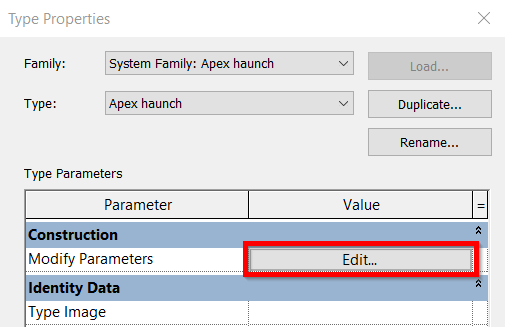 Unable to Modify Parameters in Revit 2020 Steel Connection