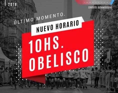 CAMBIO DE HORARIO 4º MILLA URBANA BUENOS AIRES.
