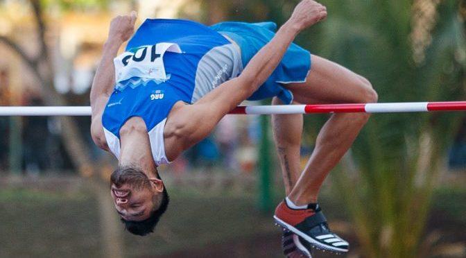 Layoy igualó el récord nacional de salto en alto