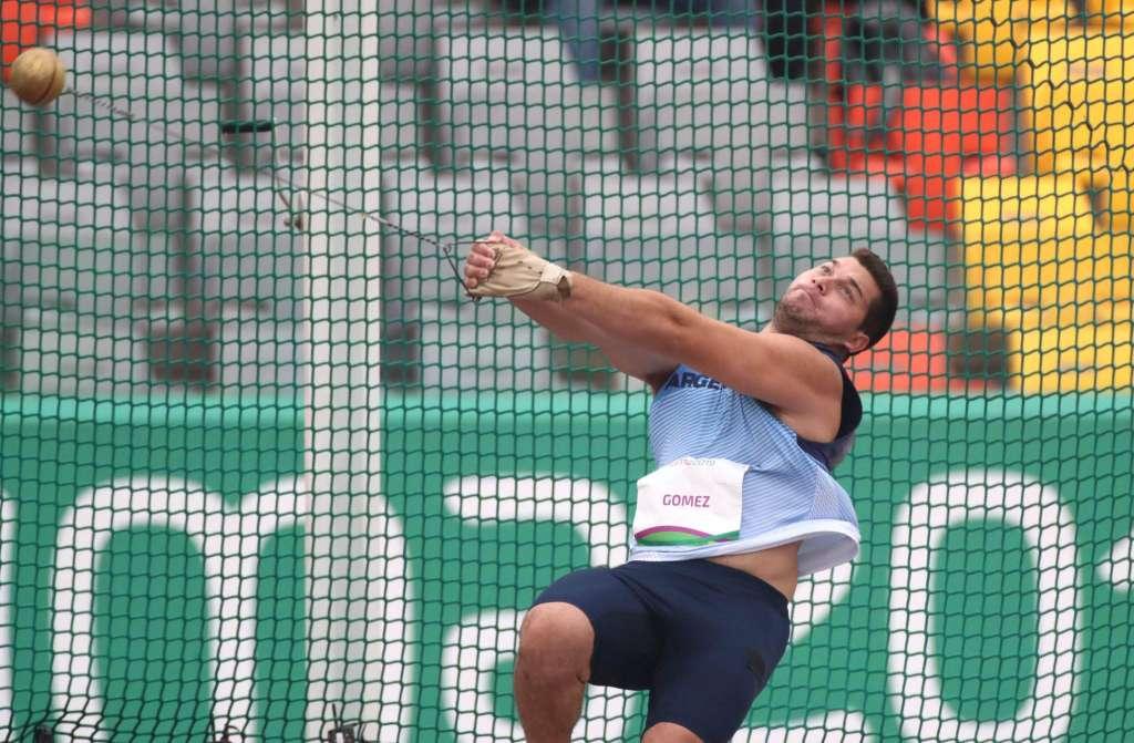 Joaquín Gómez, 5° en martillo 4