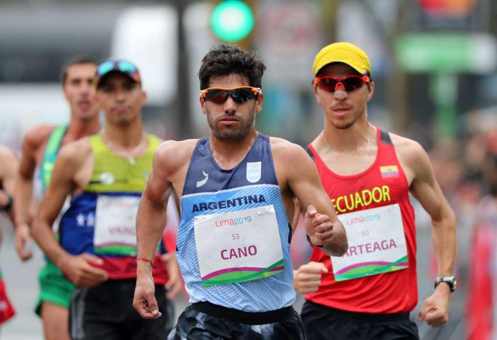 Cano terminó 10° en la marcha de los Juegos 10