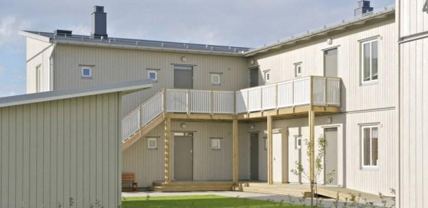 Multi family house, Sweden, modell Gteborg grey.