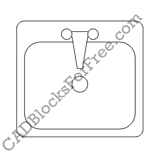 laundry sink free autocad block in dwg