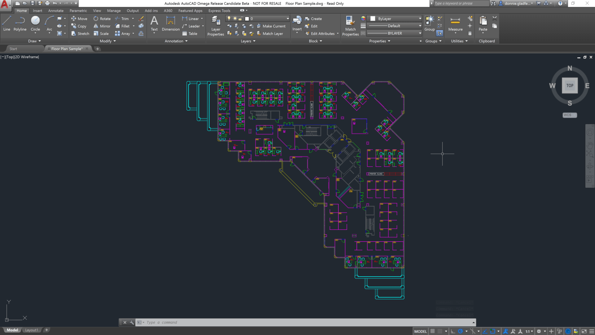 Free Floor Plan Design A First Look At Autocad 2018 Cadd Microsystems Blog