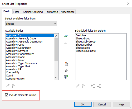 revit forums how to add drawing to sheet list