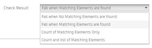 Model Checker Configurator Check Result options