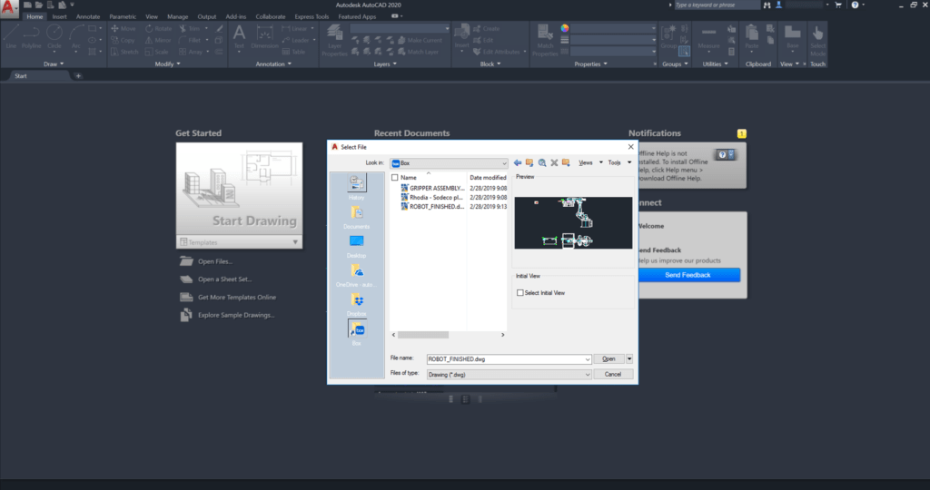 AutoCAD Integration with Dropbox, OneDrive, and Box