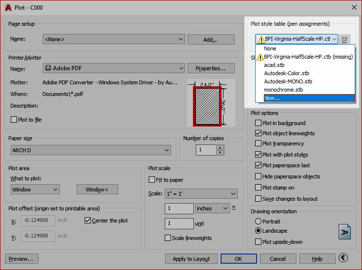 autocad print color pdf