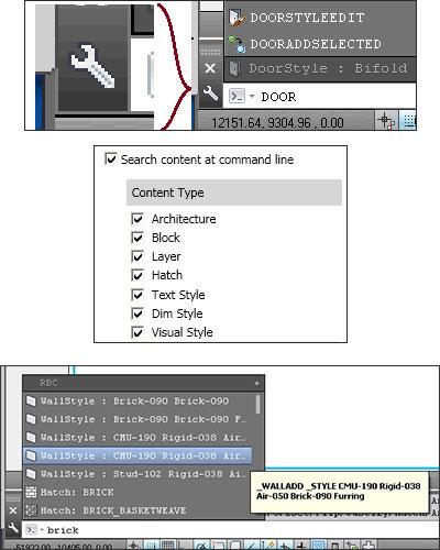 Command Line enhancements in AutoCAD Architecture 2014