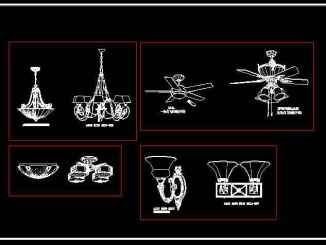 AutoCAD Blocks for Table Lamps Desk Lamp CAD Blocks, CAD Floor Lamps, Fans, Pendant Lighting AutoCAD Blocks, Wall Sconces CAD Symbols Ceiling Description