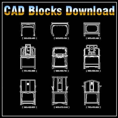 Free Chinese Furniture Blocks Download Autocad Blocks Drawings
