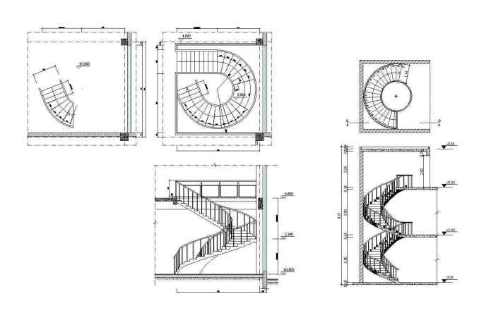 Free Spiral Stair Details – Download AUTOCAD Blocks,Drawings