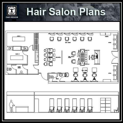 Hair Salon blocks & plans