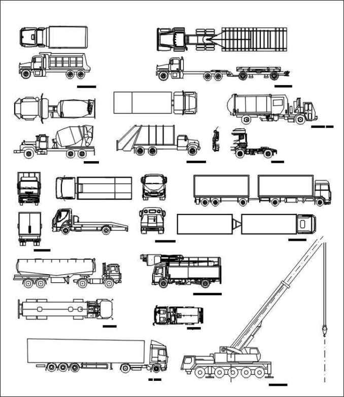 Transportation Blocks-truck,lorry