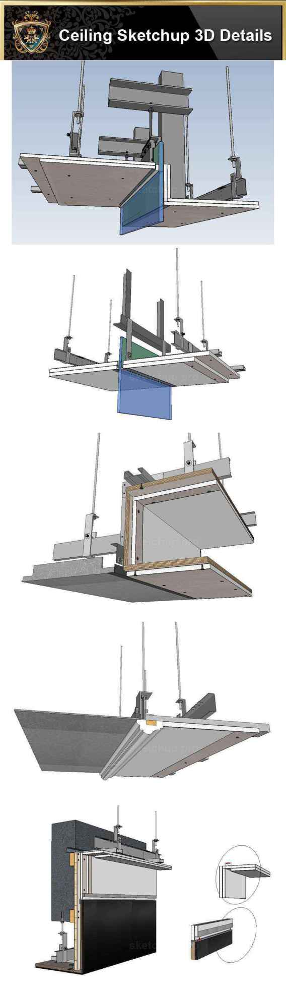 Sketchup Ceiling Details-28 soft film is connected with gypsum board .skp Sketchup Ceiling Details-28 top aluminum plate expansion joint practice .skp Sketchup Ceiling Details-29 plasterboard facing blockboard base layer .skp Sketchup Ceiling Details-29 plasterboard facing blockboard base layer.skp Sketchup Ceiling Details-30 curtain box and glass curtain wall closing node .skp Sketchup Ceiling Details-30 curtain box and glass curtain wall closing node.skp Sketchup Ceiling Details-31 curtain box and aluminum buckle board closing node .skp Sketchup Ceiling Details-31 curtain box and aluminum buckle board closing node.skp Sketchup Ceiling Details-32 hidden lamp with curtain box node .skp Sketchup Ceiling Details-32 hidden lamp with curtain box node.skp Sketchup Ceiling Details-33 finished aluminum edge inspection port reinforcement node details .skp Sketchup Ceiling Details-33 white soft film is connected with wood veneer .skp Sketchup Ceiling Details-34 plasterboard is connected to the steel cylinder .skp Sketchup Ceiling Details-34 wood veneer is connected with steel cylinder .skp Sketchup Ceiling Details-35 wood veneer is connected to the tea mirror .skp Sketchup Ceiling Details-35 wood veneer is connected with the tea mirror .skp