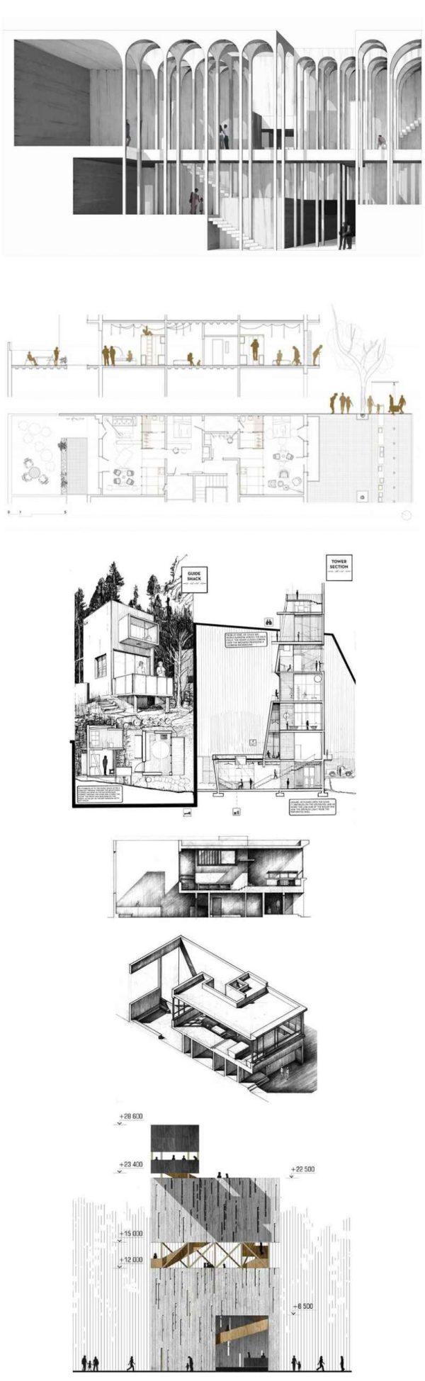 【精選建築剖面圖100例】