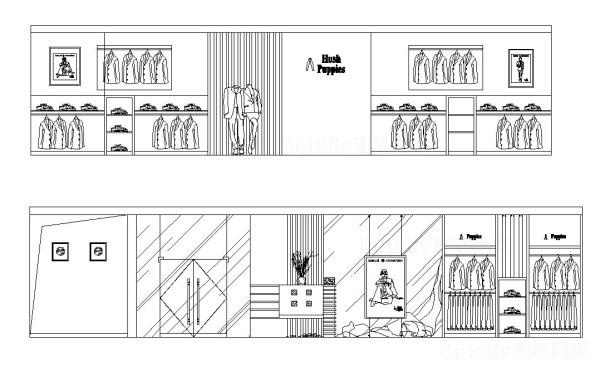 【精品店,百貨公司展示櫃,國際精品店設計,商業空間設計圖CAD施工立面圖集】V2