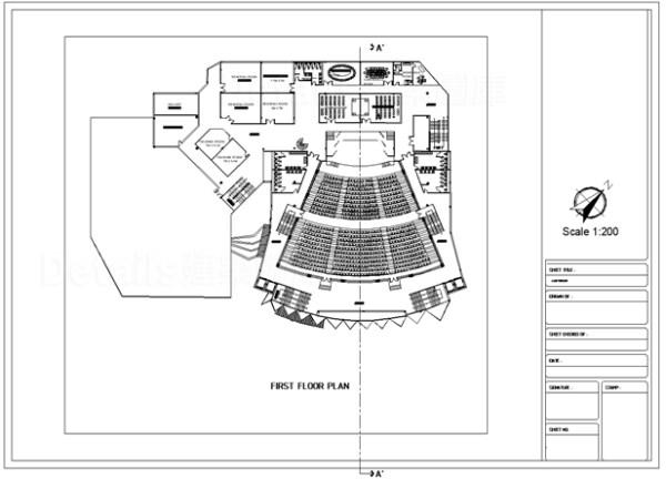 【音樂歌劇演講廳 室內集會廳 多功能音樂廳CAD施工圖集】