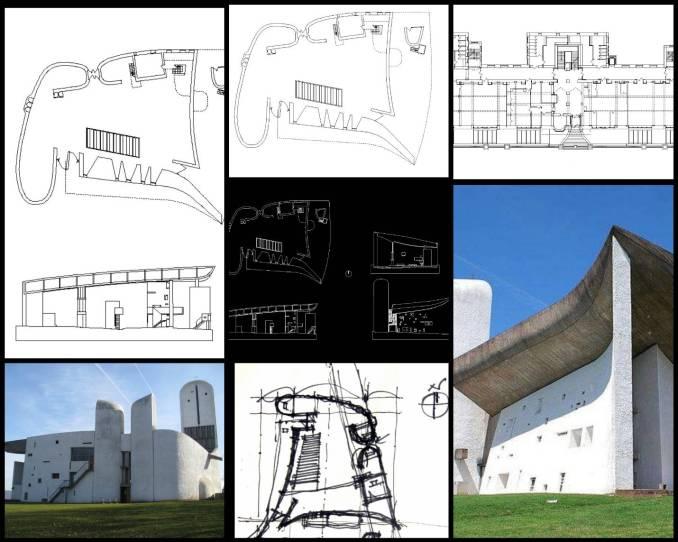 【世界知名建築案例研究CAD設計施工圖】Notre Dame du Haut(Ronchamp) 廊香教堂-勒·柯比意Le Corbusier