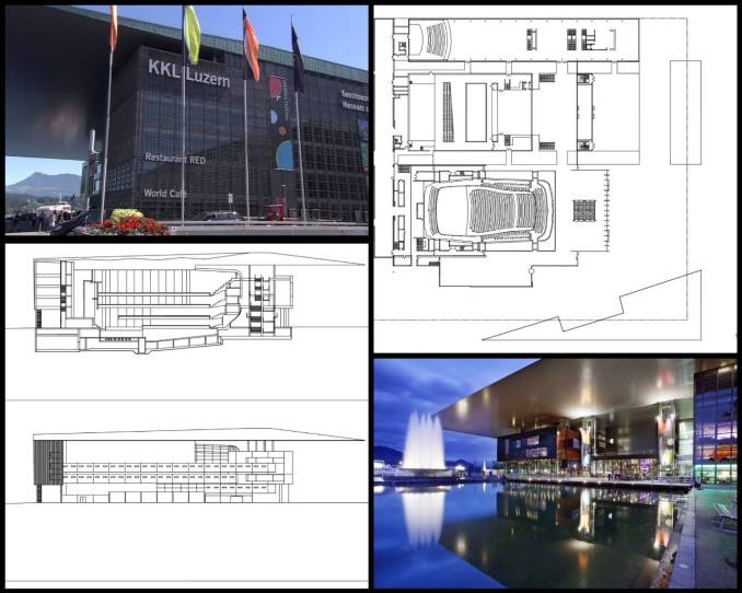 【世界知名建築案例研究CAD設計施工圖】盧塞恩-讓·努維爾文化與會議中心Kultur-und Kongresszentrum Luzern-Jean Nouvel