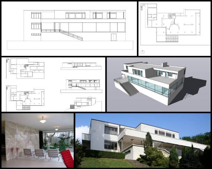 【世界知名建築案例研究CAD設計施工圖】 圖根哈特別墅Tugendhat Villa-路德維希·密斯·凡·德·羅Ludwig Mies van der Rohe