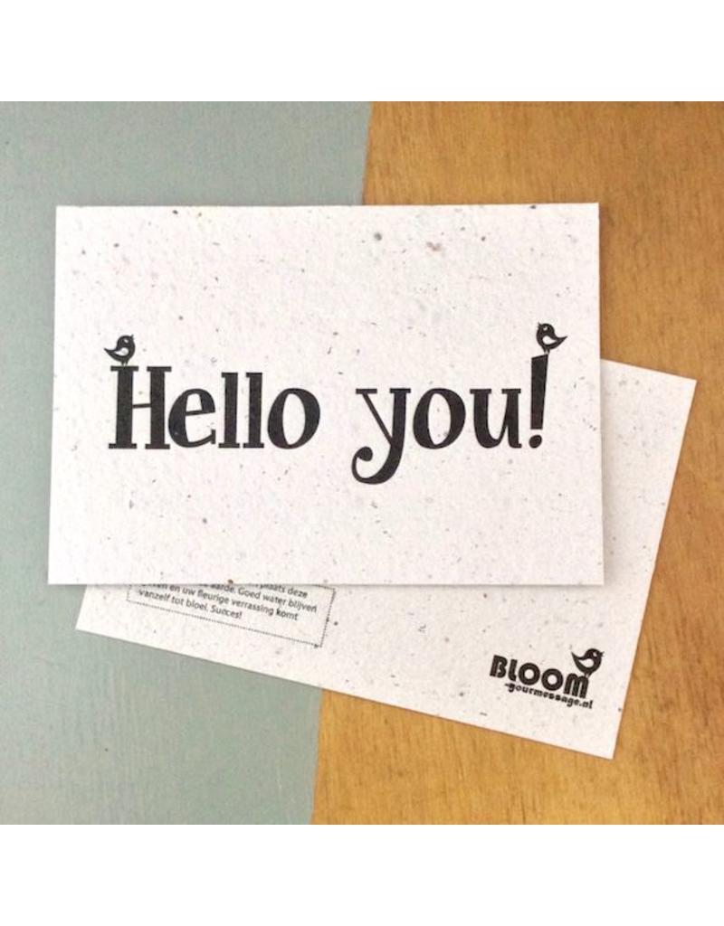 bloom bloeikaart hello you
