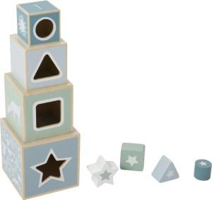 Blokken toren met vormenstoof