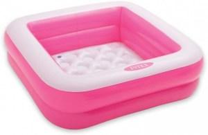roze opblaas zwembad