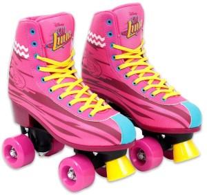 Roze rolschaatsen voor kinderen