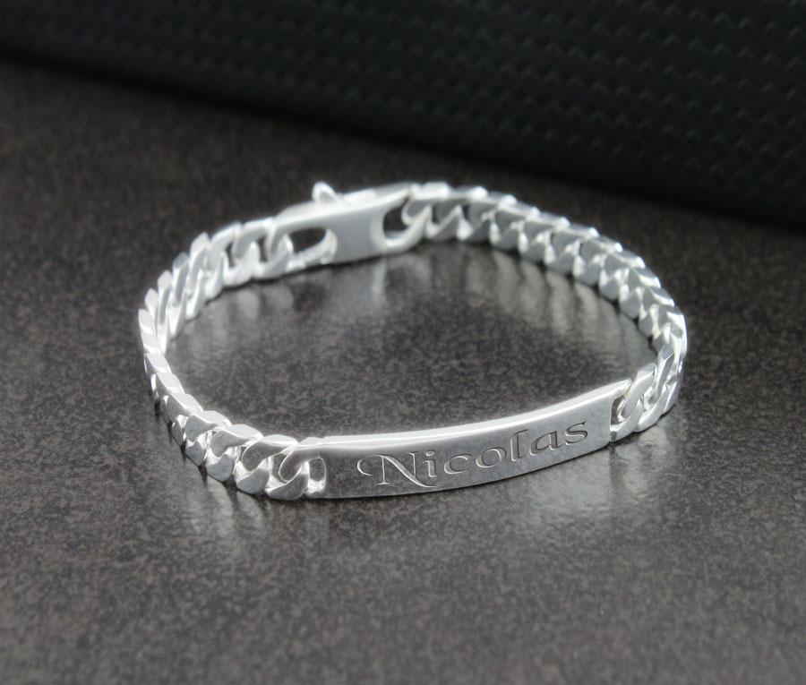 Bracelet De Couple Argent
