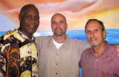 Danny Glover, Gerardo Hernández y Saúl Landau.