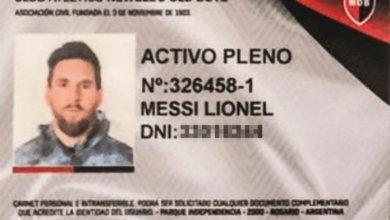Photo of Se filtró la foto del carnet de socio honorario de Lionel Messi en Newell's