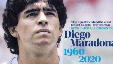 Photo of El impacto de la muerte de Maradona, reflejado en los titulares del mundo