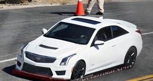 Cadillac ATS-V Coupe caught undisguised ahead of LA reveal