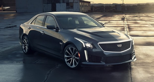 The all-new 2016 Cadillac CTS-V luxury performance sedan has a top speed of 201 mph from its supercharged 6.2L V-8 640 hp engine and 630 lb-ft of torque (855 Nm). Equipped with Cadillac's paddle-shift eight-speed automatic transmission featuring launch control and Performance Algorithm Shifting, the CTS-V will accelerate from 0-60 mph in 3.7 seconds.