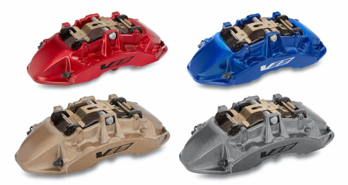 2022 Cadillac CT4-V and CT5-V Blackwing Brembo Brake Calipers in four colors