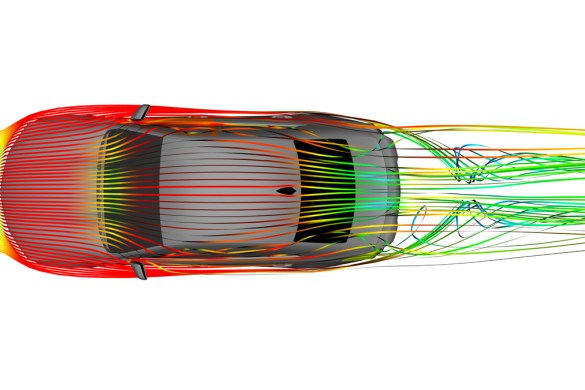 2022 CT4-V Blackwing airflow is managed from front to back for a car that is balanced mechanically and aerodynamically.