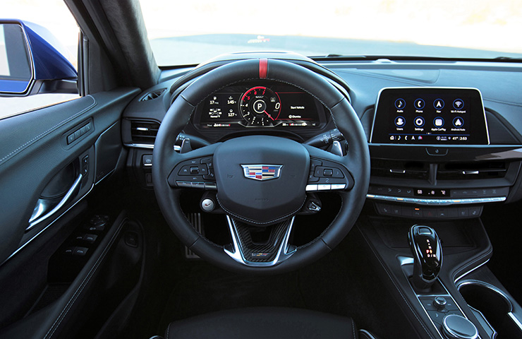 2022 Cadillac CT4-V Interior with Automatic Transmission
