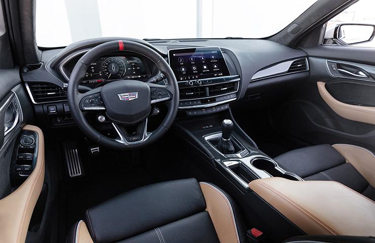 2022 Cadillac CT5-V Blackwing Interior with Manual Transmission