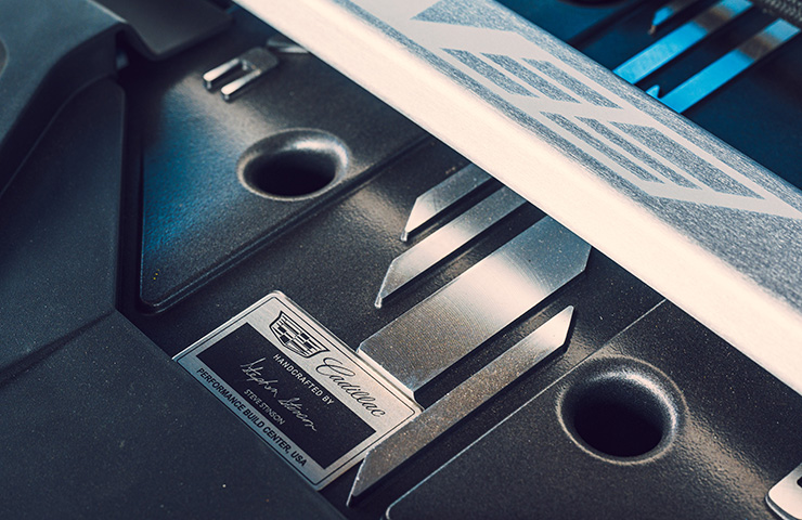 2022 Cadillac CT5-V Engine Name Plate