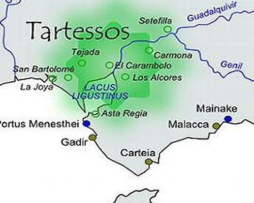 La extension del reino de Tartessos